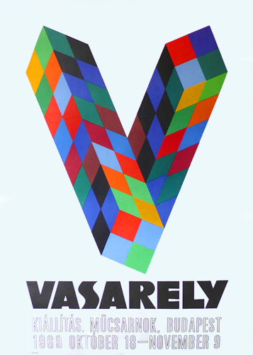 Vasarely, Victor, Hungarian, modern, art, original, poster (large view)