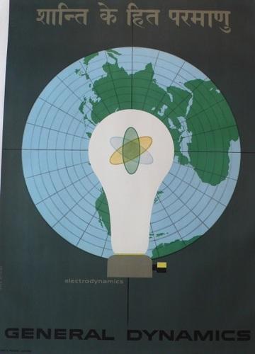 General Dynamics, Erik Nitsche, Swiss, energy, light bulb, original, poster (large view)