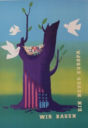 Marshall Plan, Marshall, Plan, Wir Bauen,1948, europian, original, poster (large view)