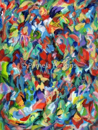 Flower Dance 2 by Pamela Parsons