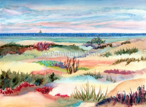 Dunes at 12th, Long Beach Island, NJ by Pamela Parsons