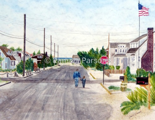 A Walk with Grandpop, Long Beach Island, New Jersey