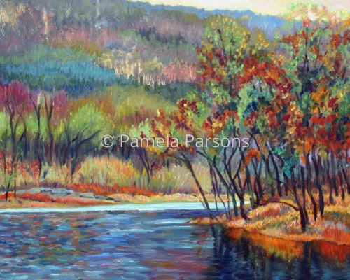 Delaware River Bend by Pamela Parsons