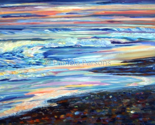 Ocean Sunrise by Pamela Parsons
