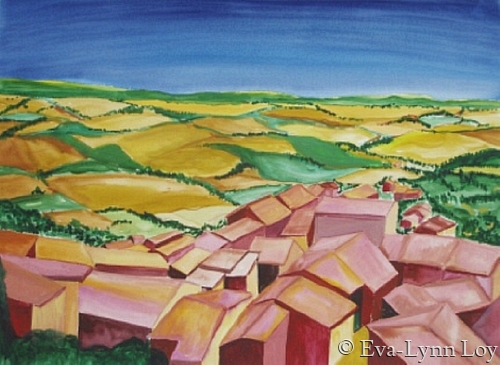 A Tuscan Town (large view)