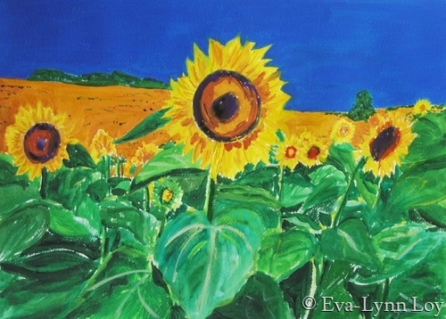Sunflowers of Tuscany (large view)
