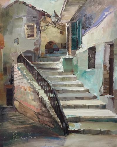 Stairways, Farindola, Italy