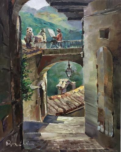 Street of Farindola, Italy