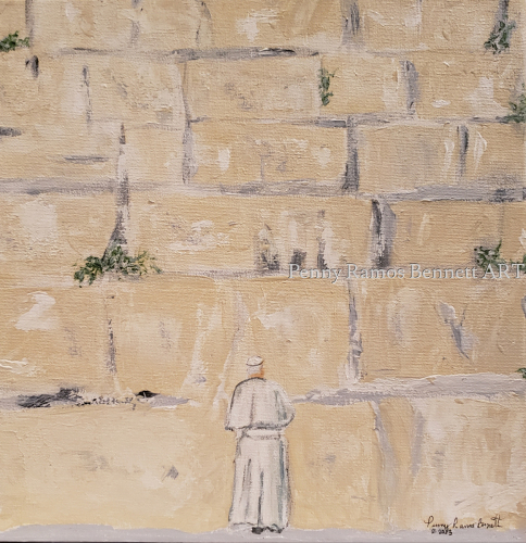 Pope at Western Wall