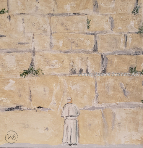 Pope at the Western Wall