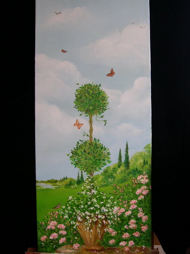 Topiary with butterflies & roses