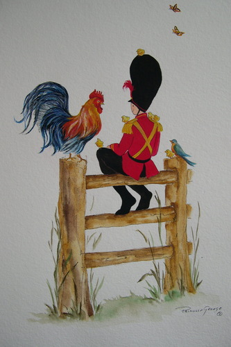 Tate the Toy Soldier with Rooster