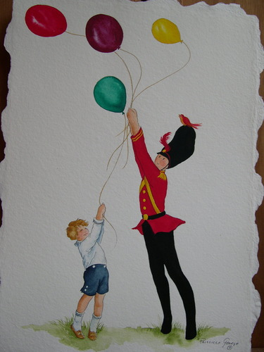 Tate the Toy Soldier with Boy & Balloons