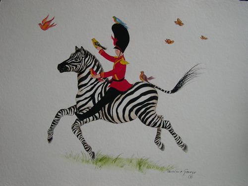 Tate the Toy Soldier with Zebra & Friend by Priscilla George