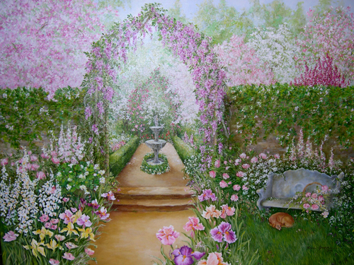 Spring Garden by Priscilla George