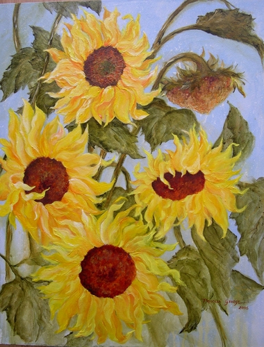 Sunflowers by Priscilla George