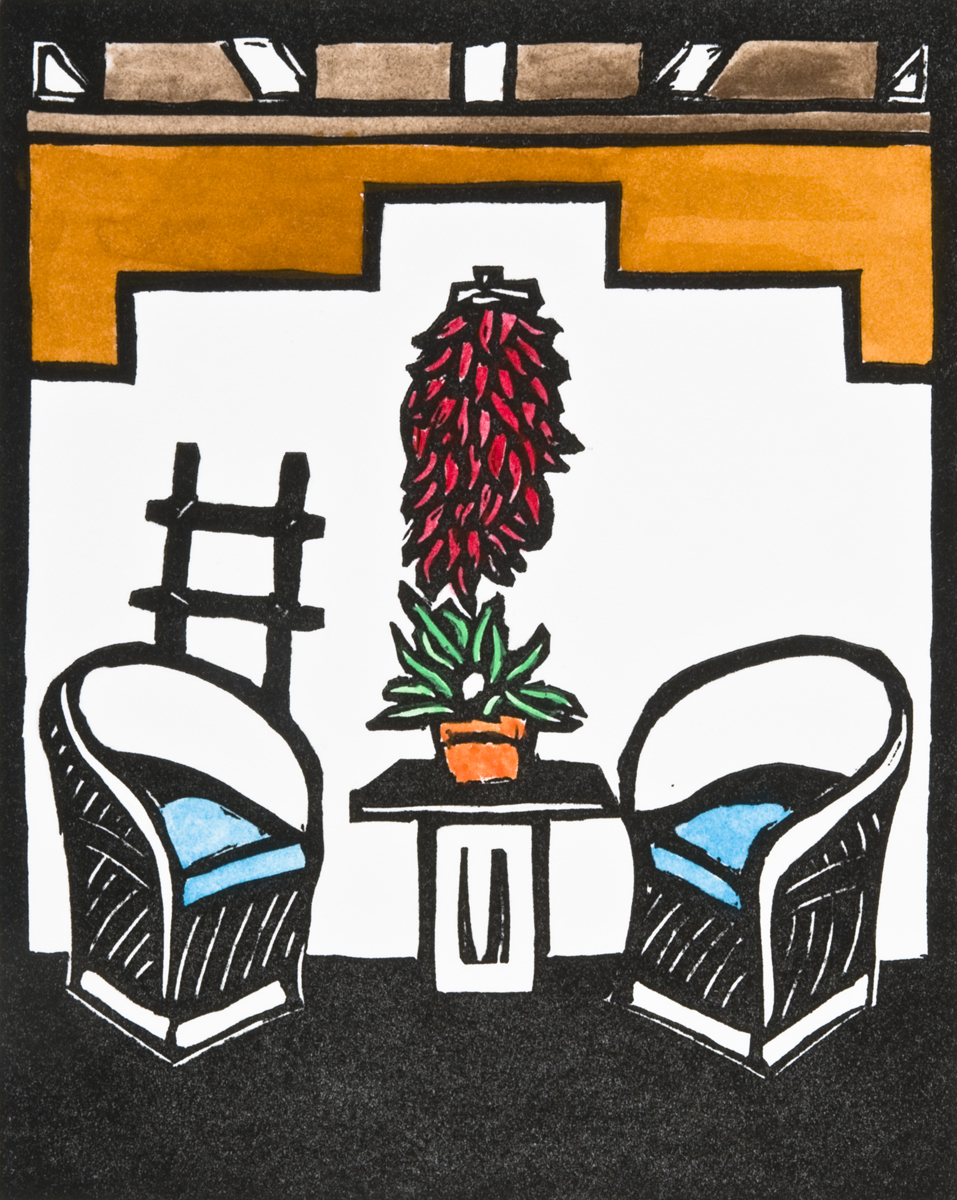 Miraculous Southwestern Limited Edition Printmaking Chili Chairs By Download Free Architecture Designs Scobabritishbridgeorg
