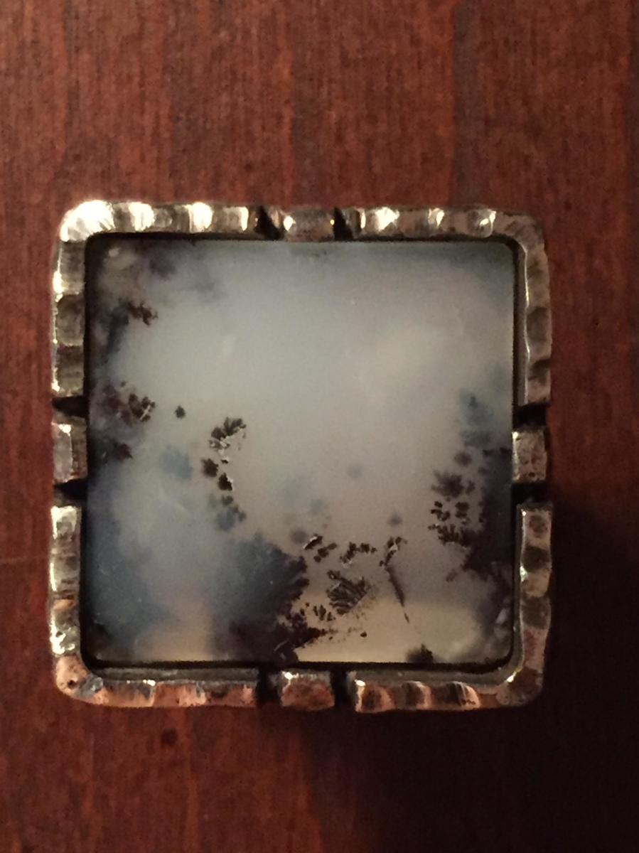 Moss Agate Ring (large view)