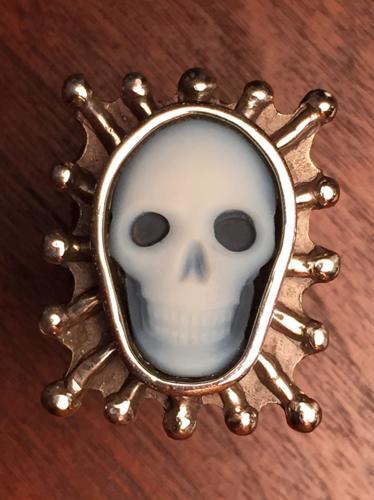 Ruby Skull Ring