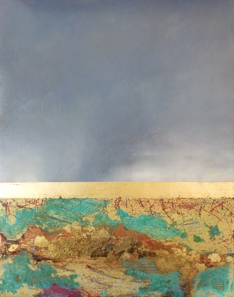 Sky Above Carlsbad 4 - Gold, Copper, and Verdigris (large view)