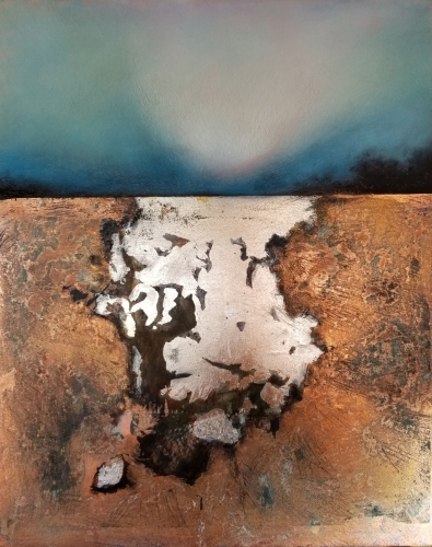 Sky Above Carlsbad 2 - Copper and Silver by Patricia Burford Ryan