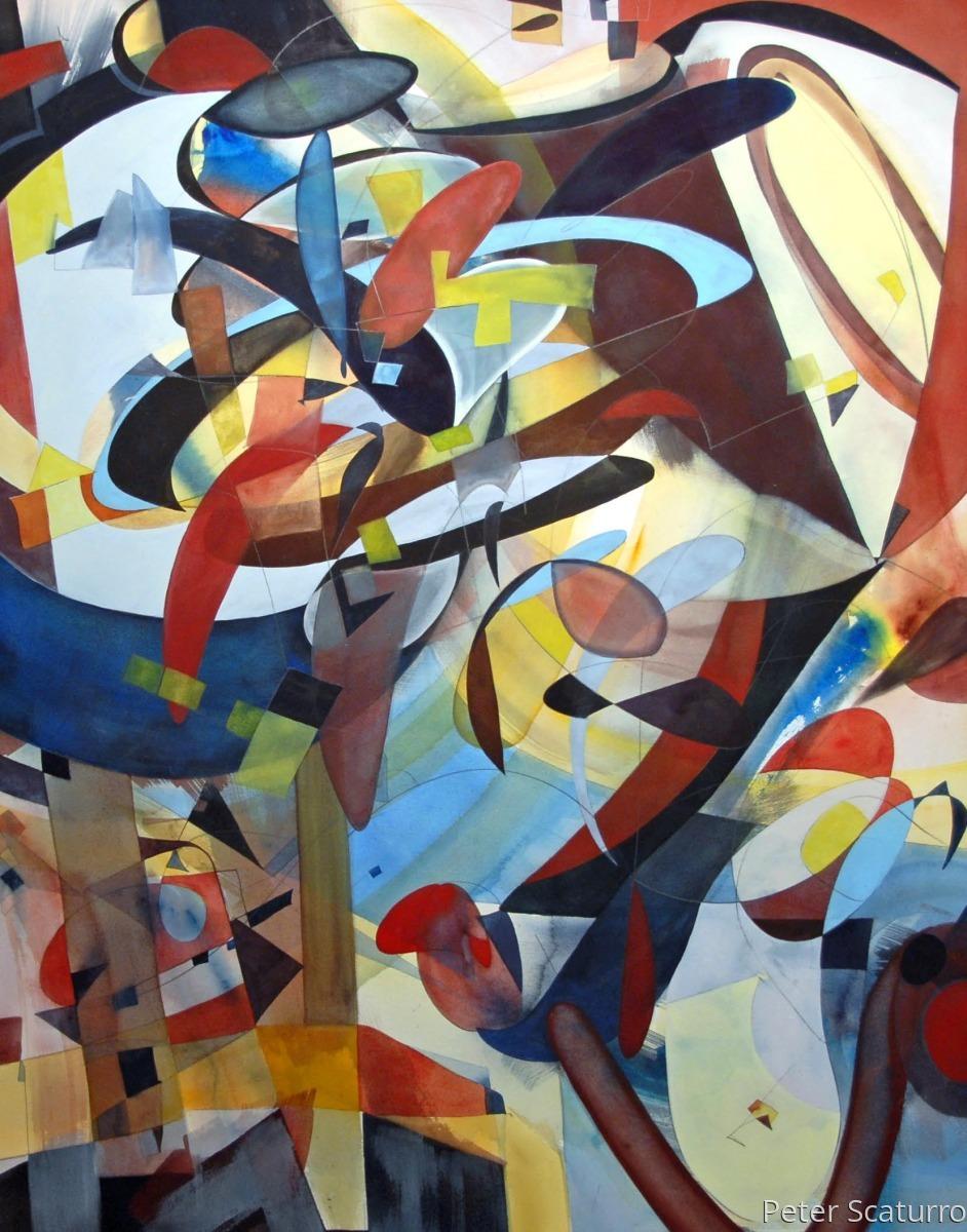Presence 23  Sold - Framed- 52 x 40 in. Juror's Award 2016 @Sebastopol Center for the Arts  (large view)