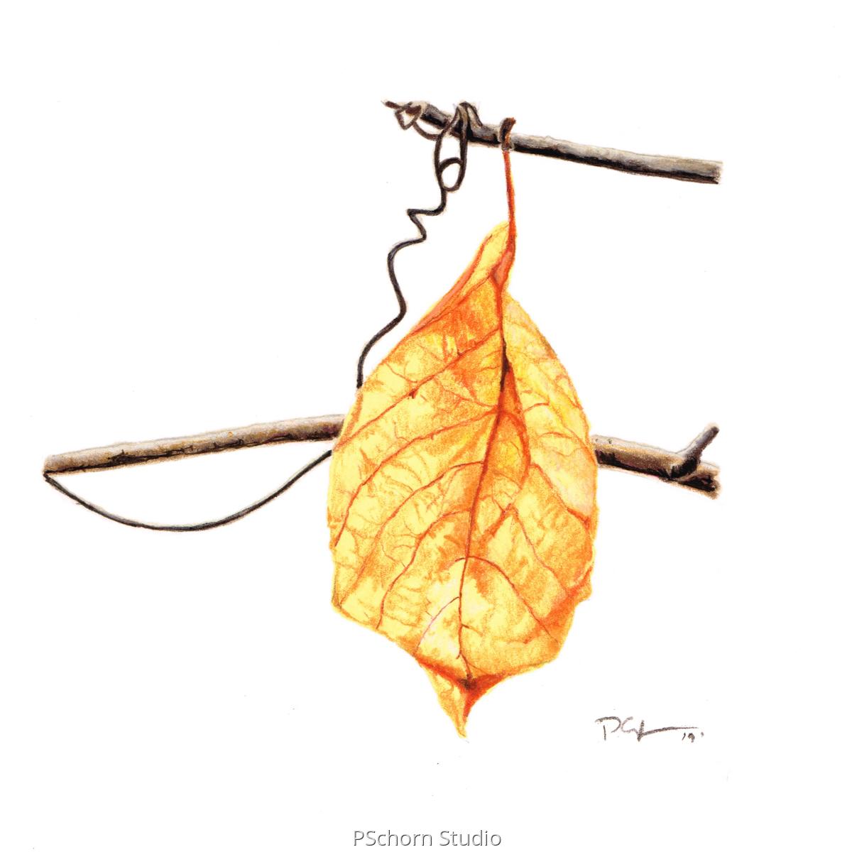 Mini Yellow Hanging Leaf (large view)