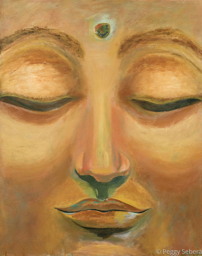 Tranquil Face of Buddha