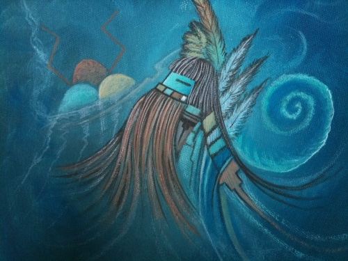 Summer rain songs  by Original Hopi Artwork By Peter Shelton III