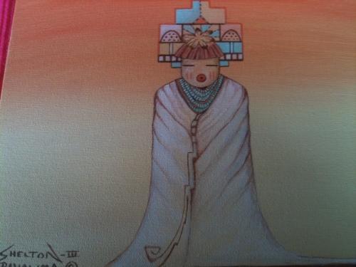 Cloud maiden by Original Hopi Artwork By Peter Shelton III