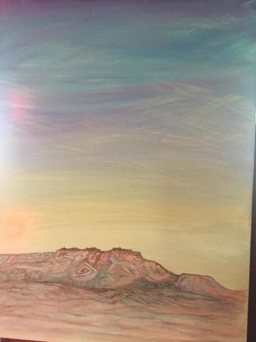 Artwork in progress by Original Hopi Artwork By Peter Shelton III
