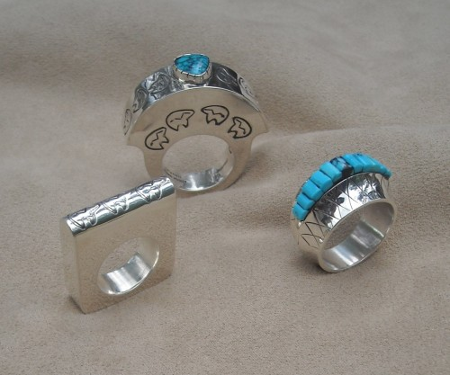 Three Grouped Rings by  Patrick Smith, M.A.  Navajo (Diné)