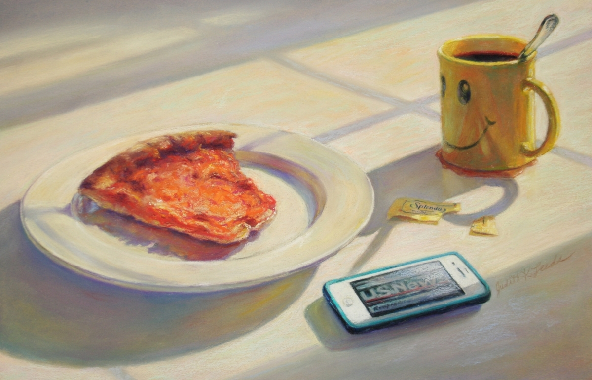 """Judith Kazdym Leeds - """"Cold Breakfast"""" - Honorable Mention (large view)"""