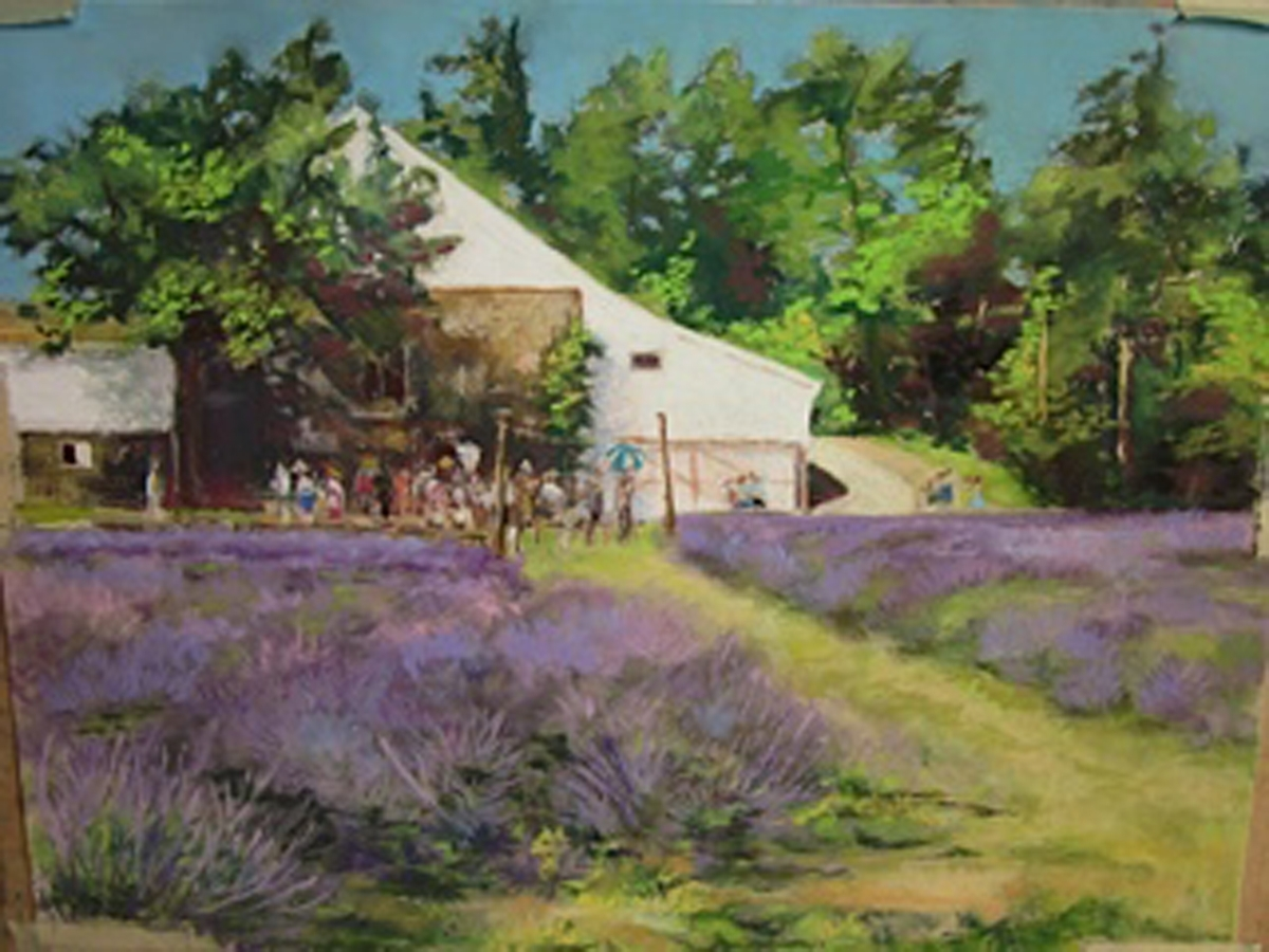 "Olya Powzaniuk - ""Lavender Fields, Morning Tour"" - Honorable Mention (large view)"