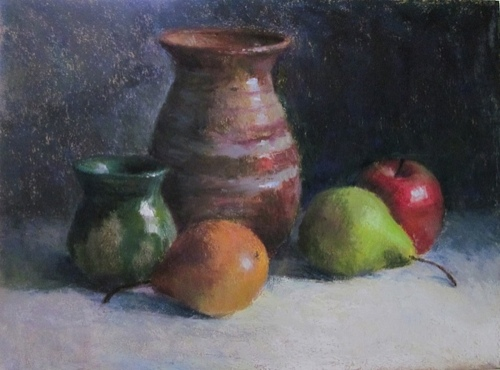 """Stephanie Cook - """"Pottery and Fruit"""" - Merit Award (large view)"""
