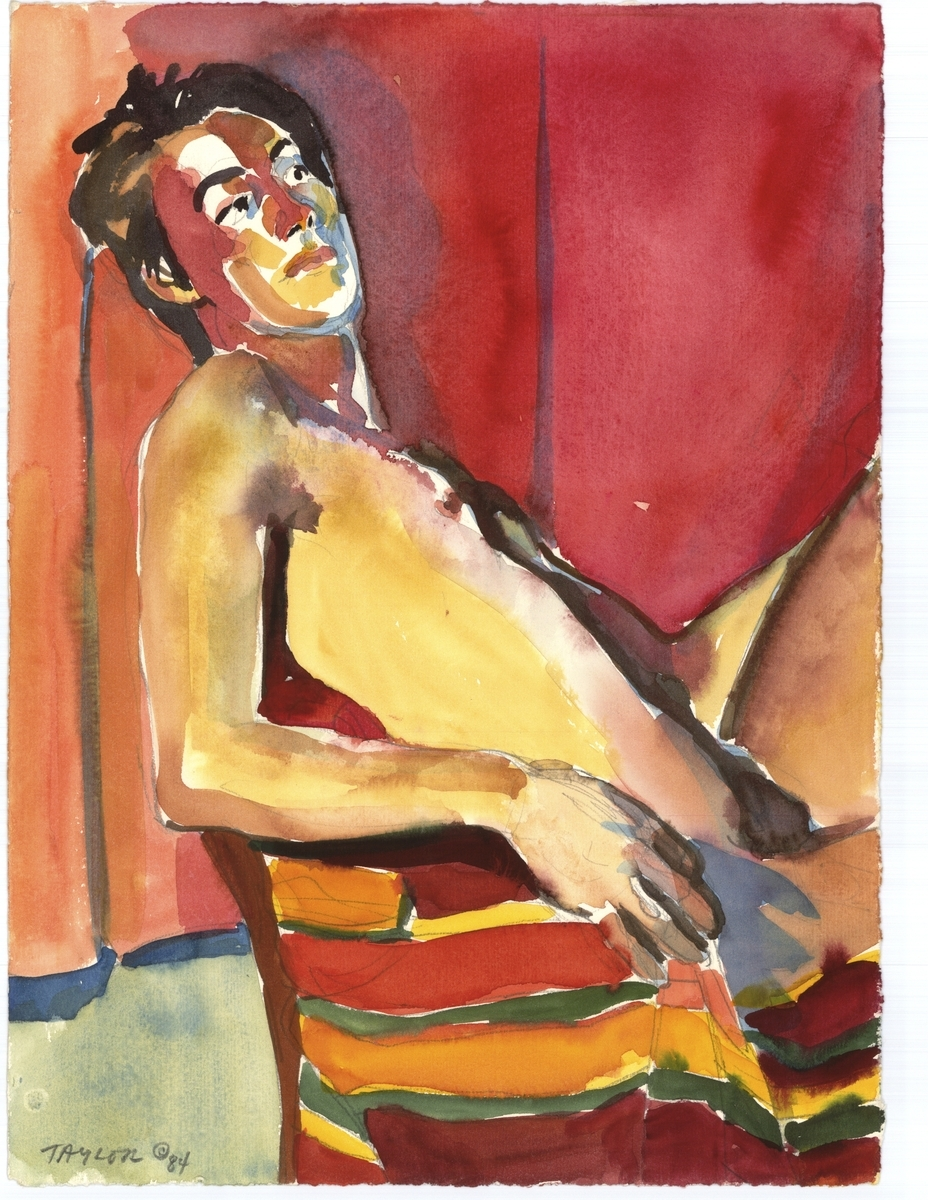 Seated Male Nude (large view)