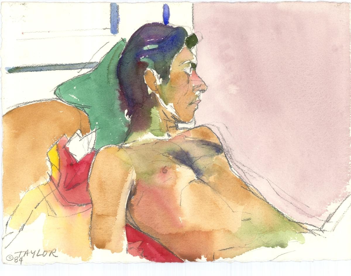Sleeping Male Nude Profile (large view)