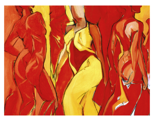 Red and Yellow Dancers (Three Graces) Original