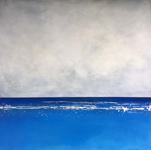 Blue Upon Blue; seafoam