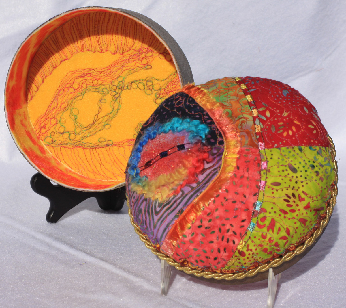 "Quilted Box (6 3/4"" Diameter) (large view)"