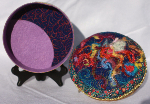 Hand Felted Wood Box (6 3/4