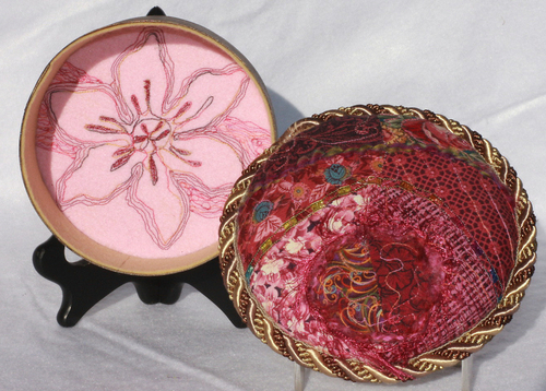 Quilted Wood Box (5 3/4 Diameter)