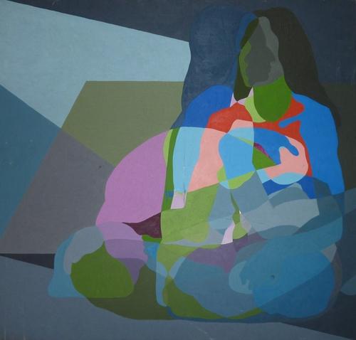Seated Woman by Paul Uyehara