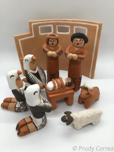 Ácoma Pueblo Nativity with Eagle dancers