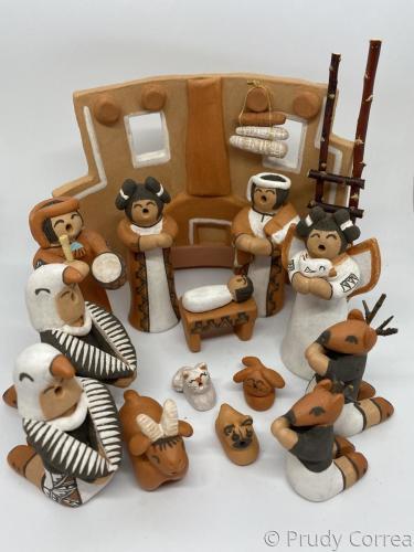 Ácoma Nativity w/ Eagle & Deer dancers