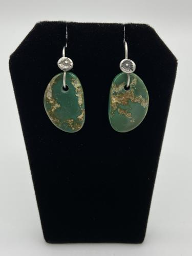 Stone Mountain Turquoise Earrings  by Piki wadsworth