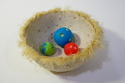 "5"" sisal bowl with paper pulp marbles (thumbnail)"