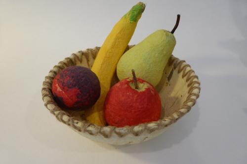 paper mache fruit