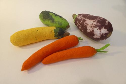 paper mache vegetables