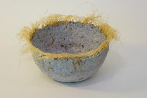 """5"""" sisal rimmed bowl"""